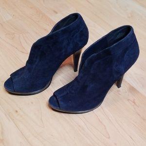 Navy suedette nine west heels